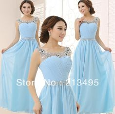 robe de soiree vestidos longo formal evening gowns long royal blue green yellow dress 2014 mother of the bride dresses W1054-in Evening Dresses from Apparel & Accessories on Aliexpress.com