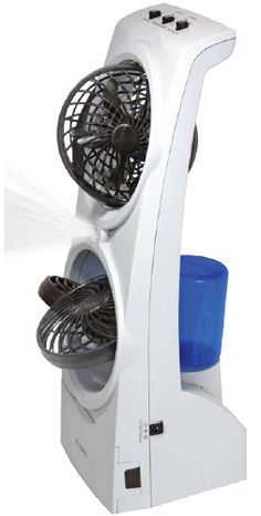 Dog crate fan with misting power! Can be run off batteries or plug. #mightymitedoggear.com