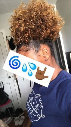 FOLLOW ME‼️ @bbyy_mandi for more 🤪 Natural Hair Types, Dyed Natural Hair, Natural Hair Journey, Dyed Hair, Au Natural, Natural Baby, Afro Hairstyles, Pretty Hairstyles, Pineapple Hairstyle