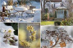 Bauerngarten Winter Gartenhaus Winterblueher Schnee Raureif