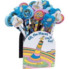 Oh, The Places You'll Go!™ Pencils With Toppers