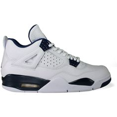 "Nike Air Jordan 4 ""Columbia"" ($300) ❤ liked on Polyvore featuring men's fashion, men's shoes, men's sneakers, shoes, sneakers, jordans, josh shoes, athletic shoes, shoeclub and nike mens shoes"