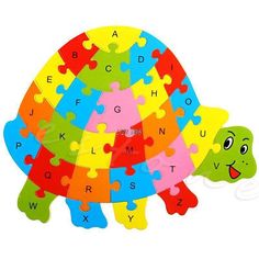 Wooden Animals Alphabet Puzzle Jigsaw
