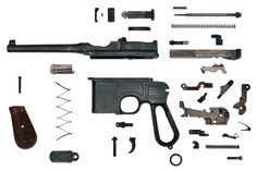 Anatomy of a Mauser C96 Broomhandle.  Courtesy of CandRsenal.com