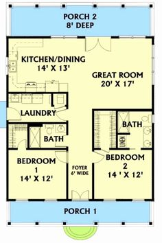 30 x 40 floorplan cabin floor plans, small floor plans, pole barn house plans The Plan, How To Plan, 6 Bedroom House Plans, Cottage House Plans, 30x40 House Plans, Small Cottage Plans, Cottage Bedrooms, Small House Floor Plans, Cabin Floor Plans