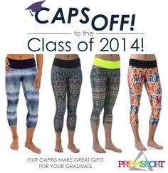 Congratulations to the Class of 2014!! Celebrate their achievement with some CAPs and Gowns! Our capris make great gifts for your Graduate