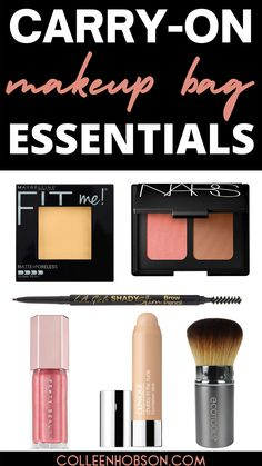 Planning a trip and need some makeup packing tips? Here's how to pack a carry on makeup bag for a fresh and natural makeup look on the go. #travel #makeup #carryon Carry On Makeup, Makeup To Buy, Travel Makeup, Beauty Hacks Skincare, Beauty Makeup Tips, Amazon Beauty Products, Best Makeup Products, Makeup Bag Essentials, Bible Promises
