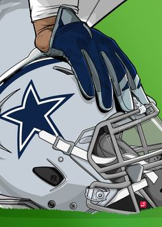 "NFL Team Helmets Dallas Cowboys #Displate artwork by artist ""Akyanyme Dotcom"". Part of a 32-piece set featuring helmet designs based on team emblems from the NFL National Football League. £38 / $51 per poster (Regular size), £76 / $102 per poster (Large size) #NFL #NationalFootballLeague #AmericanFootball #SuperBowl #DallasCowboys #Cowboys"