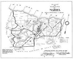 Mariel, Cuba Mapa del Municipio, 1943 REPRODUCTION