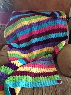 Rainbow blanket - CROCHET