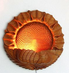 ONLY NOW 10% OFF To be ordered: Wood carving, Wall hanging - night lamp…