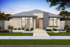 Facades | Single Storey | House Plans | Home Designs | Custom Home on