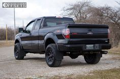 4 2010 F 150 Ford Leveling Kit Ultra 805 Tyrant Machined Accents Aggressive 1 Outside Fender