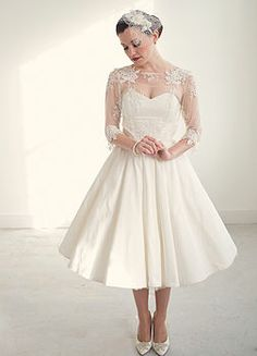 Lilly Lace And Silk Short Wedding Dress