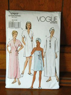 Vogue Pattern V7917  Spa Robes and Accessories   by booksnnooks