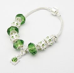 European Style Bracelet Green Color [BJEW-H106-4] - $20.00 : Get Me Beads!, Get Affordable Beads