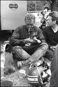 A rest point for Steve McQueen and the US team ISDT 1964