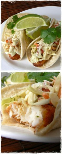 Beer Battered Fish Tacos with Baja Sauce. Oh, My!