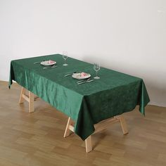 Order Top Quality Table Linens and Tablecloths from efavormart at Wholesale Rates. Choose from Premium Velvet Table Covers, Polyester Table Covers, Organza Table Covers, Satin Table Covers, and more! Green Tablecloth, Tablecloth Sizes, Tablecloth Fabric, Green Wedding Decorations, Table Decorations, Christmas Decorations, Chair Covers, Table Covers