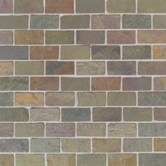 India Multicolor Brick Joint - Tumbled Slate Collection by American Olean