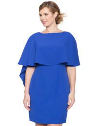Capelet Dress,  Plus-Size 14 - 28W | ElegantPlus.com Editor's Pick