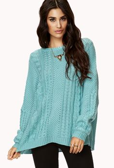 Cable Knit Sweater | FOREVER21 - 2000128202