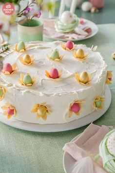 Ostertorte Käse-Sahne-Torte Coppenrath und Wiese einfaches Rezept zu Ostern -easter cake