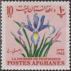 Sello: Iris (Afganistán) (Teacher's Day) Mi:AF 863A,Sn:AF 671D,Yt:AF 746Y
