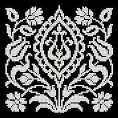 Gallery.ru / Фото #39 - Filet Lace Patterns IV - natashakon Cross Stitch Designs, Cross Stitch Patterns, Fillet Crochet, Chart Design, Lace Patterns, Loom Beading, Needlework, Arts And Crafts, Embroidery
