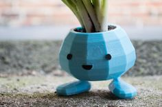 Oddish Planter 3D Printed Pokemon Planter van CarryTheWhat op Etsy