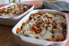 Unser Lasagne Rezept - das einzige was noch fehlt ist der Käse! Hier nach belieben bestreuen und ab in den Ofen!