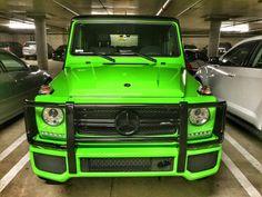 Gorgeous lime green #Mercedes G-Class