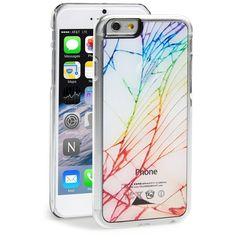 Zero Gravity 'Cracked Out' iPhone 6 Plus Case ($28) ❤ liked on Polyvore featuring accessories, tech accessories, phone cases, phone, iphone, capas de iphone, white multi and zero gravity