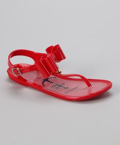 Girls red jelly sandal $11.99 normally $22 - Tommy Hilfiger sale