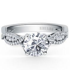 "My Ring!  Kirk Kara ""Pirouetta"" Split Shank Twist Diamond Engagement Ring in 18kt White Gold"