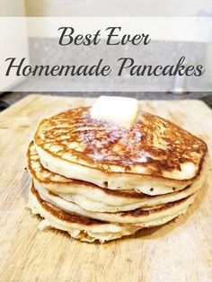 Best ever homemade pancakes recipe! Make these amazing from-scratch pancakes for your family! Best ever homemade pancakes recipe! Make these amazing from-scratch pancakes for your family! Best Homemade Pancakes, Pancakes Easy, Breakfast Pancakes, Breakfast Dishes, Breakfast Recipes, Fluffy Pancakes, Buttermilk Pancakes, Homemade Pancake Recipe Without Milk, Vanilla Pancakes