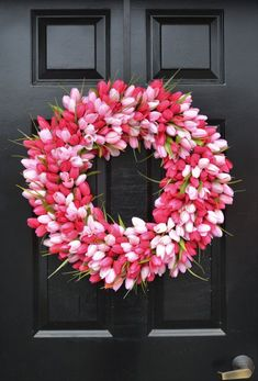 THIN Spring Tulip Wreath, Front Door Wreath, Storm Door Wreath, Spring Wreath, Silk Flower Wreath, Tulip Wreaths, Sizes 16-24 inch available  #Promotion… #PaidAd #ad #affiliatelink