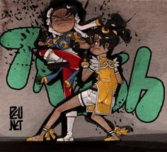 Street Fighter vs Tekken in Street Art Form