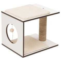 Arbre A Chat Vesper V-stool Blanc Stool, Table, Furniture, Home Decor, Articles, Cute Kittens, Cat Scratching Post, Wood