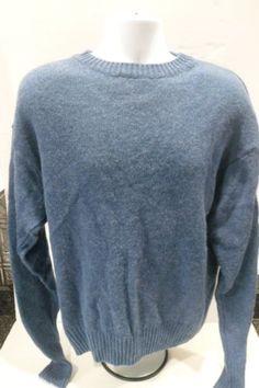 Pendleton-100-Shetland-Wool-Size-Large-Crewneck-Sweater-L-Blue