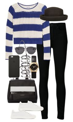 """""""Inspired outfit with sneakers"""" by pagesbyhayley ❤ liked on Polyvore featuring мода, Paige Denim, Elizabeth and James, Topshop, Givenchy, Black Apple, rag & bone, Christian Dior и M.N.G"""