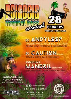 Psicosis Tropical Bass - Carnaval 28 de febrero 2014 #todala noche / Sonidero Mandril