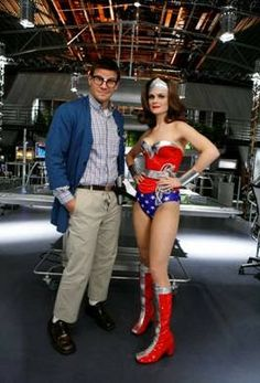 My vote for the new Wonder Woman movie, Emily Deschanel. John Francis Daley, Booth And Bones, Booth And Brennan, Emily Deschanel, Pumpkin Patch Outfit, Wonder Woman Movie, Cute Pumpkin, Black Pumpkin, Vintage Inspired Dresses