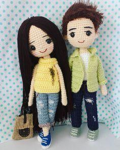 Best Crochet Amigurumi Doll Models - Amigurumi World Crochet Dolls Free Patterns, Crochet Motifs, Crochet Doll Pattern, Amigurumi Patterns, Crochet Teddy, Crochet Yarn, Crochet Parrot, Crochet Doll Tutorial, Amigurumi Tutorial