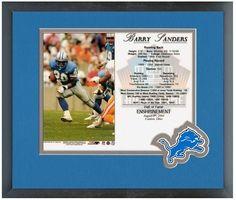 Barry Sanders Detroit Lions Hall of Fame 8/8/04 Enshrinement Day Card