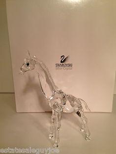 "Swarovski Crystal Figurine ""Baby Giraffe"" New in Box COA 236717 Mint | eBay"