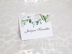 Imienne, ślubne winietki dla uczestników wesela oznaczające miejsca przy stole.
