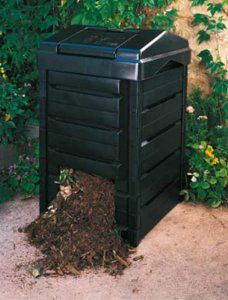 "Garden Gourmet Back Yard Composter - Made from Recycled Plastic (Gaiam) by Gaiam. $129.99. Made of 100% recycled plastic, our simple-to-use bin traps solar heat to accelerate the production of compost.. The Garden Composter includes adjustable air vents, easy-open hinged lid for adding materials and sliding bottom door for compost removal.. It snaps together in minutes without using tools and includes a guide to successful backyard composting.. 40"" High, 23"" Wide, 10...."