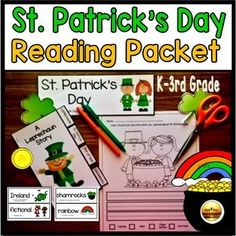 Patrick's Day Activities Reading Comprehension Kindergarten First Grade Kindergarten Literacy, Classroom Activities, Classroom Ideas, Writing Worksheets, Writing Lessons, Teacher Lesson Plans, Teacher Resources, St Patrick Day Activities, St Patricks Day