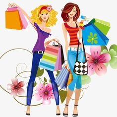 Shopping girl, Shopping, Shopping, Shopping Bag PNG and PSD Shopping Clipart, Vide Dressing, Shop Till You Drop, Girls Shopping, Shopping Shopping, Pictures To Draw, Cute Illustration, Fashion Art, Ballet Fashion